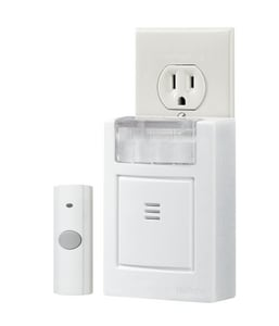 Broan Nutone Plug-In Door Chime Kit with Strobe Light in White NLA224WH