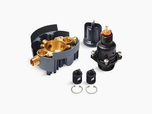 Kohler Rite-Temp® 1/2 in. Pressure Balancing Valve Body and Cartridge Kit with Service Stop (Supplied Loose) KP8304-KSL-NA