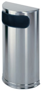 Rubbermaid 9 gal Half Round Liner in Satin Stainless Steel RFGSO8SSSPL