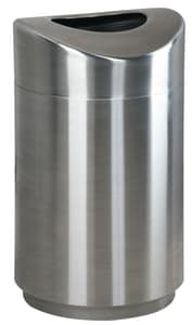 Rubbermaid 30 gal Open Container in Silver RFGR2030SSPL