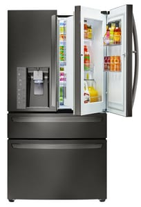 LG Electronics 25.9 cf French-Door Refrigerator in Black Stainless Steel LGLMXS30776D