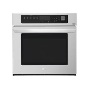 LG Electronics 29-3/4 in. 4.7 cf 8-Burner Built-In Single Electric Wall Oven with Convection in Stainless Steel LGLWS3063ST