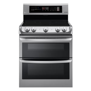 LG Electronics 7.3 cf Electric Double Oven Range with ProBake Convection Oven and EasyClean in Stainless Steel LGLDE4411ST