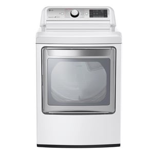LG Electronics TurboSteam™ 7.3 cf Gas Dryer in White LGDLGX7601WE
