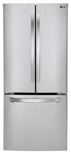 LG Electronics 29-3/4 in. 21.8 cf 3-Door French Door Bottom Mount Freezer Refrigerator in Stainless Steel LGLFC22770ST
