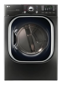 LG Electronics 7.4 cf Ultra Large Capacity Electric Front Load Dryer in Black Stainless LGDLEX4370K