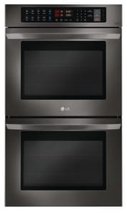 LG Electronics 2000W Double Wall Oven in Black Stainless Steel LGLWD3063BD