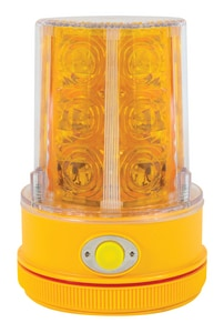 North American Signal High Output LED Warning Light in Amber NPSLM2HA at Pollardwater