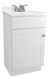 Design House 15-3/4 x 31-1/2 x 16-1/2 in 1-Door Freestanding Vanity Base in White D541599