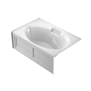 JACUZZI® Nova™ 60 x 36 in. Acrylic Rectangle Skirted Air Bathtub with Left Drain and J2 Basic Control in White JNVS6036ALR2XXW