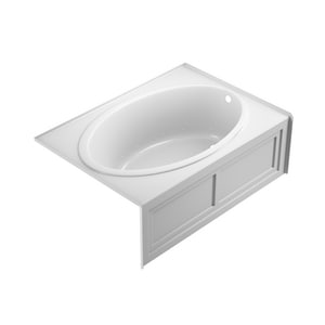 JACUZZI® Nova™ 60 x 42 in. Acrylic Rectangle Skirted Air Bathtub with Right Drain and J2 Basic Control in White JNVS6042ARL2XXW