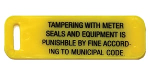 Mars Company Plastic Warning Tag 1-Side Curb Stop Lock (Pack of 50) MF2273022WHPK