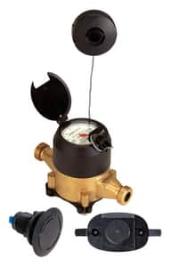 Seametrics MJR Series 3/4 in. NPT 22 gpm Epoxy Bronze and Thermoplastic Cold Water, Reed Switch Pulse Meter - US Gallons SMJR0751G