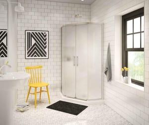 Radia 71-1/2 x 36 in. Drop-In Bathtub in Brushed Nickel M137440981305000