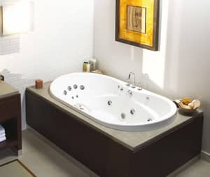 Living 66 x 36 in. Drop-In Bathtub with Center Drain in White M102761004001B