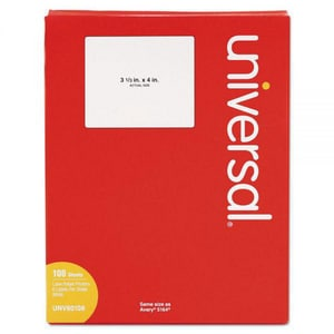 Universal Co Div of Scheu Products 4 in. Inkjet or Laser Shipping Label (600 per Box) UUNV80108