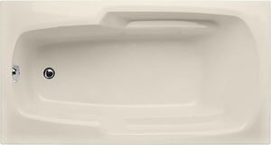 Hydro Systems Solo 60-1/4 x 32-1/4 in. Drop-In Bathtub with End Drain in Biscuit HSOL6032ATOBIS