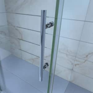 DreamLine Enigma 72 in. Frameless Sliding Shower Door with Clear Tempered Glass in Brushed Stainless Steel DSHDR6072791207