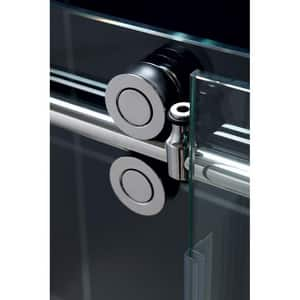 DreamLine Enigma 60-1/2 in. Frameless Sliding Shower Enclosure with Clear Tempered Glass in Polished Stainless Steel DSHEN6036601208