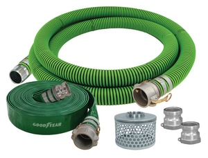 Abbott Rubber Co Inc 34 ft. x 3 in. Polyethylene, PVC and Steel Hose Kit A1220K30001142POLQ at Pollardwater