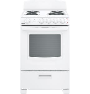 GE Appliances 23-3/4 in. 4-Burner Freestanding Electric Range in White GRAS300DMWW