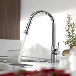Hansgrohe Talis S Single Handle Pull Down Kitchen Faucet in Polished Chrome H14877001
