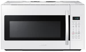 Samsung Electronics 15-9/16 in. 1.8 cf Over-the-Range Microwave with Sensor Cooking in White SME18H704SFWAA