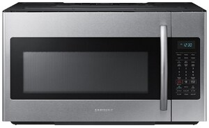 Samsung Electronics 15-9/16 in. 1.8 cf Over-the-Range Microwave with Sensor Cooking in Stainless Steel SME18H704SFSAA