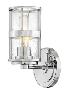 Hinkley Lighting Noah 100W 1-Light Medium E-26 Vanity Fixture in Polished Chrome H5430CM