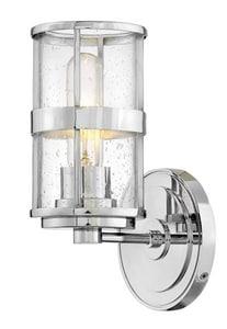 Hinkley Lighting Noah 100W 1-Light Medium E-26 Vanity Fixture in Polished Chrome H5430CM