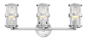 Hinkley Lighting Noah 100W 3-Light Medium E-26 Vanity Fixture in Polished Chrome H5433CM