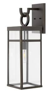 Hinkley Lighting Porter 100W 1-Light Medium E-26 LED Outdoor Wall Sconce in Oil Rubbed Bronze H2805OZ