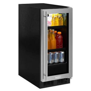 Marvel Industries 14-7/8 in. 2.7 cf Built-in Beverage Center with Frame, Glass Door and Right Hinge in Stainless MML15BCG2RS