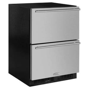 Marvel Industries 23-7/8 in. 15A 5 cf Built-in Specialty Refrigerator Drawer in Stainless Steel MML24RDS3NS