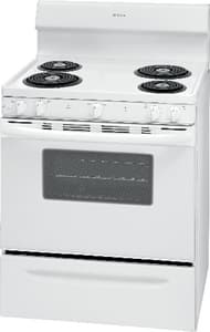Frigidaire 29-7/8 in. 4-Burner Freestanding Electric Range with Self Clean and Clock in White FFFEF3016UW