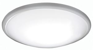 AFX Lighting Capri 14 in. 27W 1-Light LED Flush Mount Ceiling Fixture in Brushed Nickel ACFF142400L30D1BN