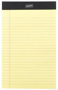 Staples Inc Canary Notepad (12 Pack) S26829