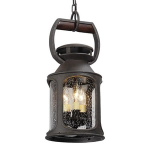 Troy Lighting Old Trail 13-1/2 in. 180W 3-Light Medium E-26 Incandescent Pendant in Old Iron TF4517