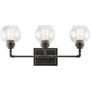 Kichler Lighting Niles 60W 3-Light Bath Light with Clear Seeded Glass KK45592