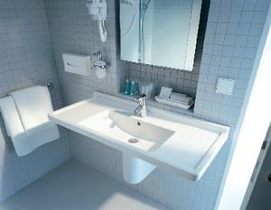Duravit USA Starck 3 Wall Mount Bathroom Sink in White D0304800000