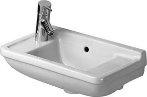 Duravit USA Starck 3 2-Hole 1-Bowl Ceramic Wall Mount Lavatory Sink in White Alpin D0751500008