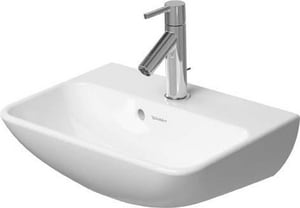 Duravit ME by Starck 1-Hole 1-Bowl Wall Mount Lavatory Sink in White Alpin D07194500101