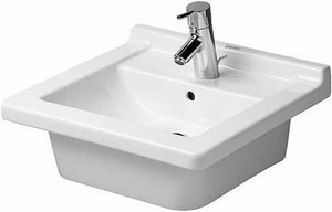 Duravit Starck 3 Wall Mount and Consoles Bathroom Sink in White D0303480000
