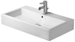 Duravit Vero Single Hole Wall Mount Lavatory Sink in White D04548000601