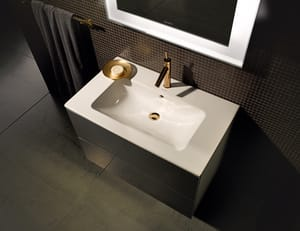 Duravit ME by Starck 3-Hole 1-Bowl Ceramic Wall Mount Lavatory Sink in White Alpin D2336830030