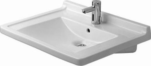 Duravit Starck 3 Wall Mount Lavatory Sink in White D0309700000