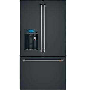 General Electric Appliances Café™ Series 69-7/8 x 35-3/4 in. 22.2 cf Built-in French Door Refrigerator in Matte Black GCYE22UP3MD1