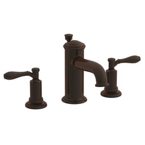 Newport Brass Ithaca 3-Hole Widespread Lavatory Faucet with Double Lever Handle and 6-1/8 in. Spout Reach in Venetian Bronze N2550/VB