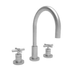Newport Brass East Linear Two Handle Widespread Bathroom Sink Faucet in Satin Nickel - PVD N990/15S