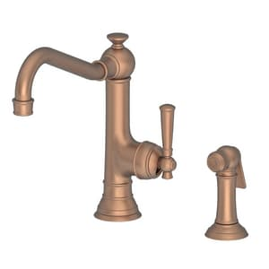 Newport Brass Jacobean Single Handle Kitchen Faucet in Antique Copper N2470-5313/08A